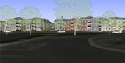 A rendering of the Weddington Road project, courtesy of the Charlotte-Mecklenburg Housing Partnership