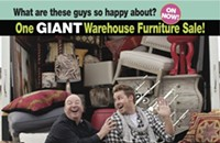 A so-called tent sale, courtesy of The Furniture Connector, High Cotton