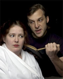 DONNA BISE - A society on the hot seat in Fahrenheit 451, - featuring Claire Whitworth-Helm and Mark - Sutton