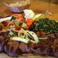 A STEAL AT $10: Lamb tenderloin kebabs