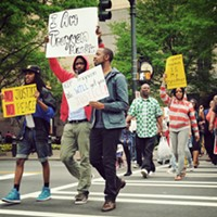 A Trayvon Martin-inspired rally draws a small turnout with a big message