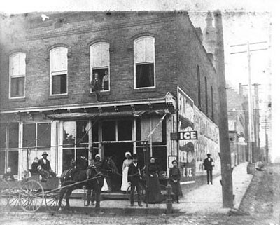 A typical corner store in Charlotte, circa the early 1900s.