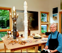 Alice Ballard Munn with some of her creations