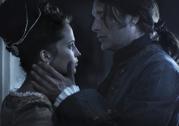 Alicia Vikander and Mads Mikkelsen in A Royal Affair (Magnolia Pictures)