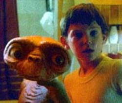 ALIEN ENCOUNTER E.T. and Elliott (Henry Thomas) - in never before seen footage from E.T. The - Extra-Terrestrial