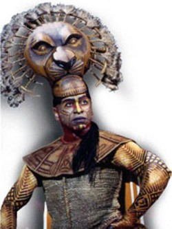 "Alton Fitzgerald White  as ""Mufasa"" in The Lion King - National Tour  at Belk Theatre"