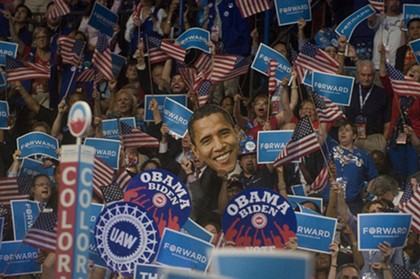 DNC in photos: Slut pins, Barack Obama, more