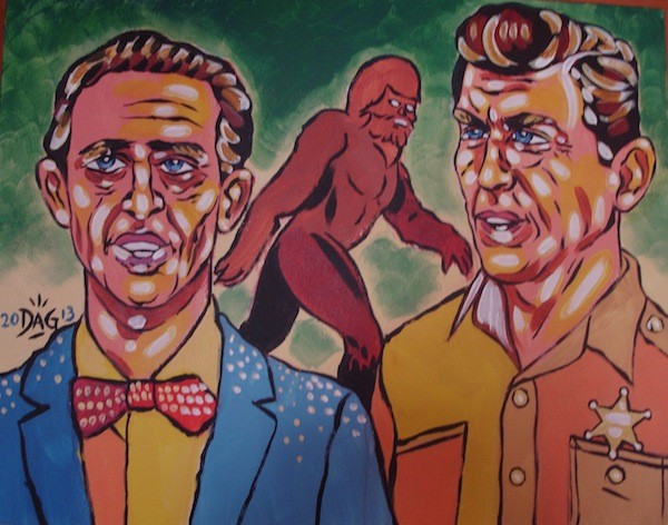 Andy and Barney and Bigfoot