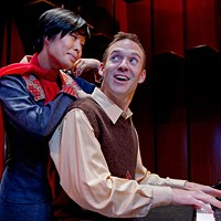 Andy Faulkenberry as Vernon, and Vivian Tong as Sonia in They're Playing Our Song.