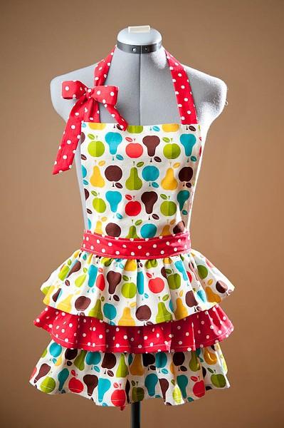 Apples & Pears Full Skirt Apron