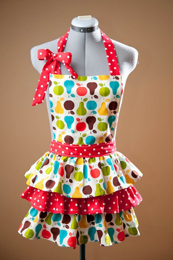 Apples & Pears Full Skirt Apron