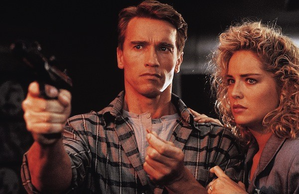 Arnold Schwarzenegger and Sharon Stone in Total Recall (Photo: Lionsgate)