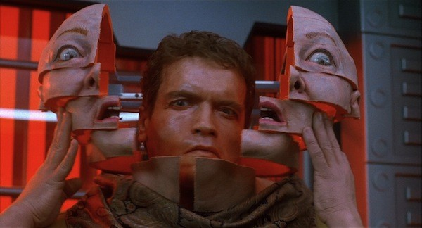 Arnold Schwarzenegger in the first Total Recall (Photo: Lionsgate & TriStar)