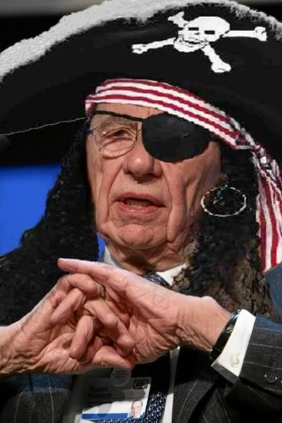 Arrrgghhh! It's Rupert Murdoch, famed media pirate.