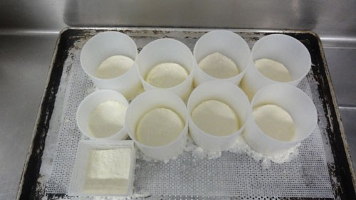Artisanal cheese in the making