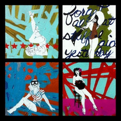 Grouping of Pinups (Cheeky Chick, Forget Everything I Said Yesterday, Cafe Babe, & Hibiscus Rocker) By Sharon Dowell