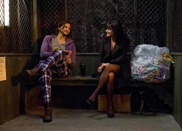 Ashton Kutcher and Lea Michele in New Year's Eve (Photo courtesy Warner Bros.)