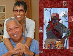 IMAGES COURTESY THE GANTT CENTER - At left, Bernard and Shirley Kinsey. Right, 'The Boss,' by Bisa Butler, is featured in the Kinsey Collection.