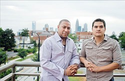 ASHLEY GOODWIN - BACK IN STRIDE: Business partners James Rickmond (left) and Adam Whalen on Loft 1523's patio.