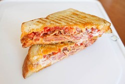 ASHLEY GOODWIN - BACONING YOU CLOSER: Grilled pimento cheese sandwich