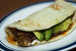 JEAUMANE MCINTOSH - Baleadas are one of Hondura's most popular foods.