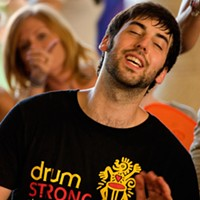 BEATING CANCER: Joey Vachon at 2011's DrumStrong.