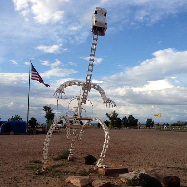 Because what's more American than a skeleton made of chains?