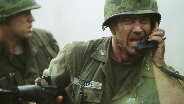 BEHIND ENEMY LINES: Mel Gibson comes under fire in We Were Soldiers