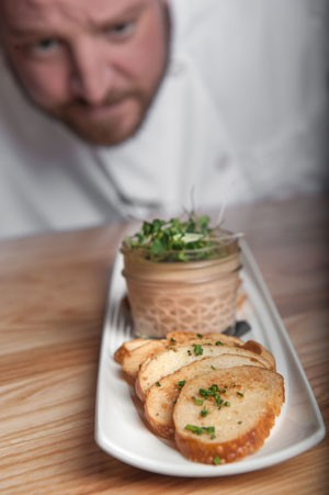Ben Philpott of Block and Grinder with Chicken Liver Mousse