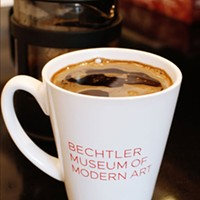 BEST COFFEE: French Press Coffee at the cafe at the Bechtler Modern Museum of Art