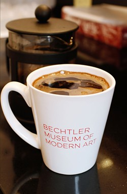ASHLEY GOODWIN - BEST COFFEE: French Press Coffee at the cafe at the Bechtler Modern Museum of Art
