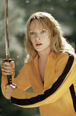 ANDREW COOPER/MIRAMAX - BLADE RUNNER Uma Thurman slices through the - competition in Kill Bill Vol. 1