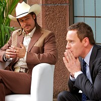 Brad Pitt and Michael Fassbender in The Counselor. (Photo: Fox)