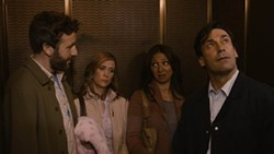 JOJO WHILDEN / ROADSIDE ATTRACTIONS - BRIDESMAIDS PART II?: Nope; despite the presence of Chris O'Dowd, Kristen Wiig, Maya Rudolph and Jon Hamm, this is actually a scene from Friends with Kids.