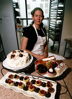 RADOK - Bridgette Shaw with some of her pastries.