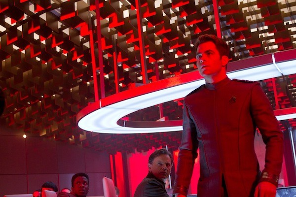 Bruce Greenwood (middle background) and Chris Pine in Star Trek Into Darkness (Photo: Paramount)