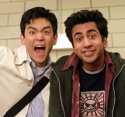 SOPHIE GIRAUD / NEW LINE - BURGER, JOINT Fried friends John Cho and Kal - Penn get psyched about their impending road trip in - Harold and Kumar Go to White Castle