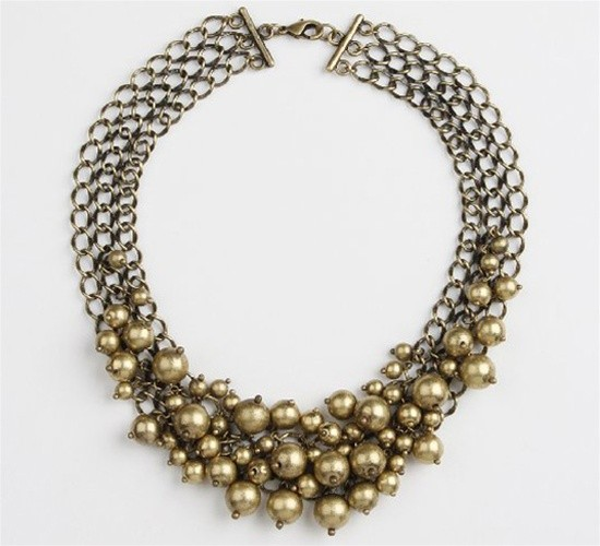 Burnished Gold Necklace - The Jewel Box