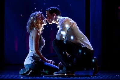 Caissie Levy and Richard Fleeshman as Molly and Sam in Ghost The Musical.  (Credit: The Hartman Group)