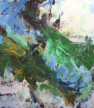 "Carl Plansky's ""Abstract in Green & Blue"""