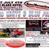 Cars, bikes and fireworks at Red White & Blue Fest