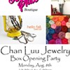 Chan Luu jewelry box opening party