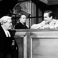 Charles Laughton (left) and Tyrone Power (right) in Witness for the Prosecution (Photo: MGM)