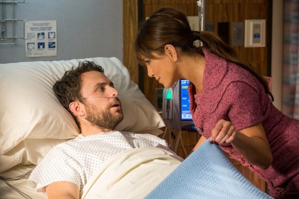 Charlie Day and Jennifer Aniston in Horrible Bosses 2 (Photo: Warner Bros.)