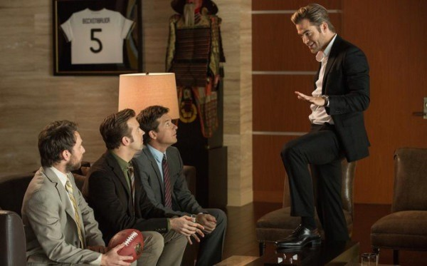 Charlie Day, Jason Sudeikis, Jason Bateman and Chris Pine in Horrible Bosses 2 (Photo: Warner)