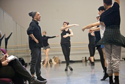 PHOTOS BY JEFF HAHNE - Charlotte Ballet's resident choreographer Dwight Rhoden works with dancers for his upcoming Contemporary Fusion piece.