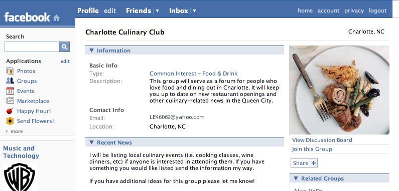 Charlotte Culinary Club