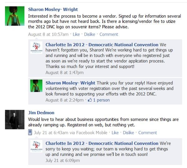 Charlotte in 2012 only seems to respond on Facebook when theyre apologizing for not being responsive. Lame.