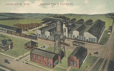 Charlotte Pipe and Foundry in 1909: One of the earlier industrial manufacturers in South End.