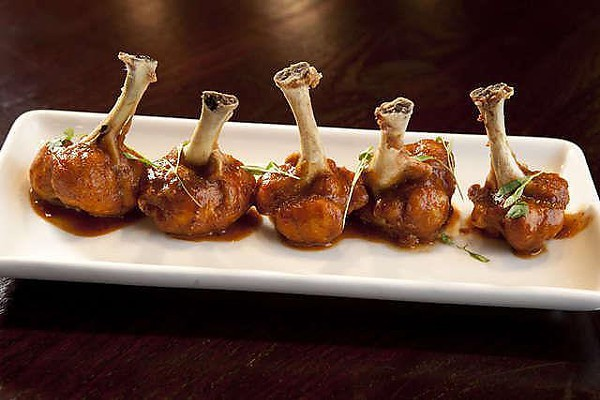 Chicken Lollipops are one of the choices for an appetizer at Terrace Cafe.